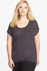 Michael by Michael Kors Studded Top - Lyst