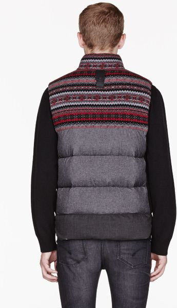 Moncler Grey Patterned White Mountaineering Edition