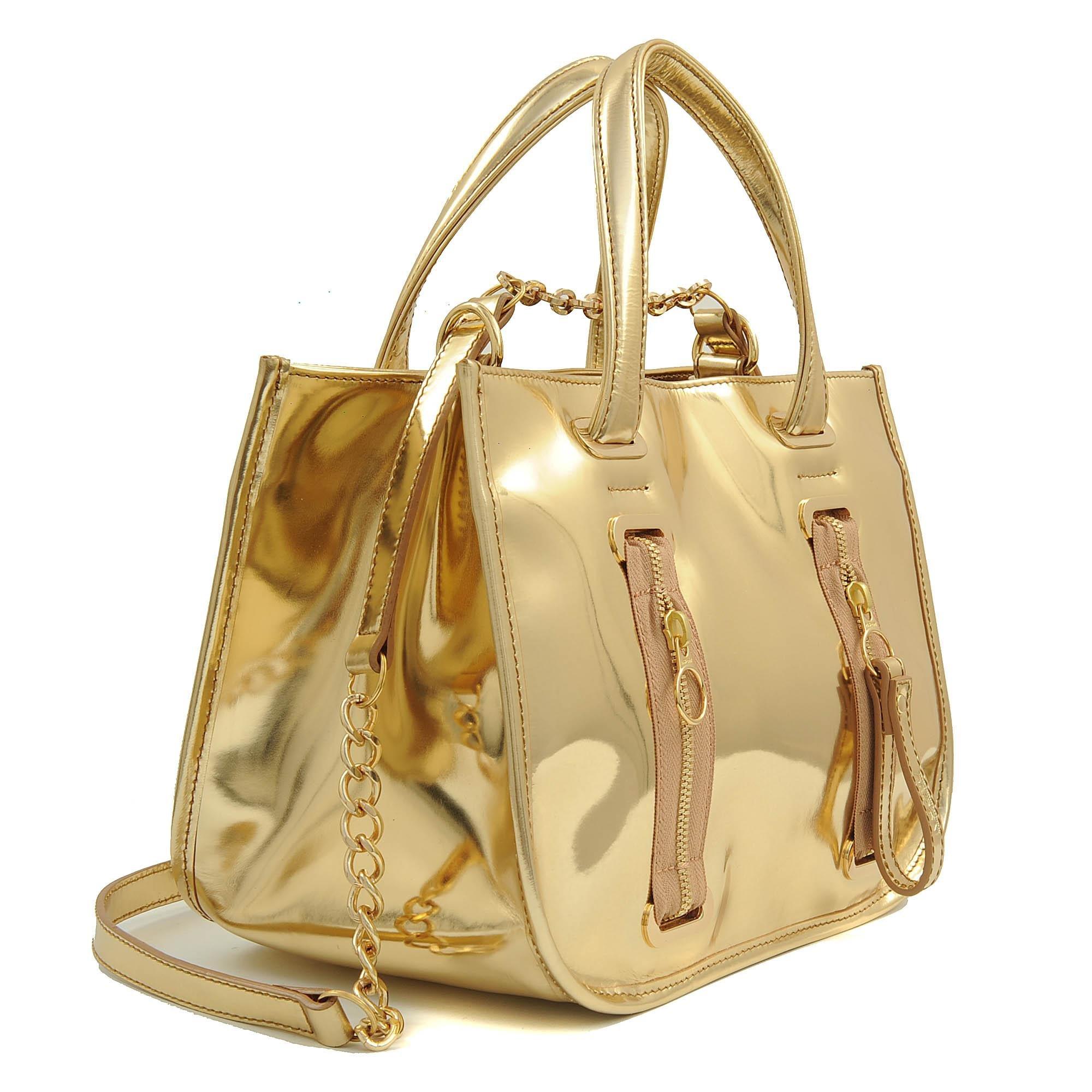 Lyst Nsew Pondich 233 Ry Gold Bag In Metallic