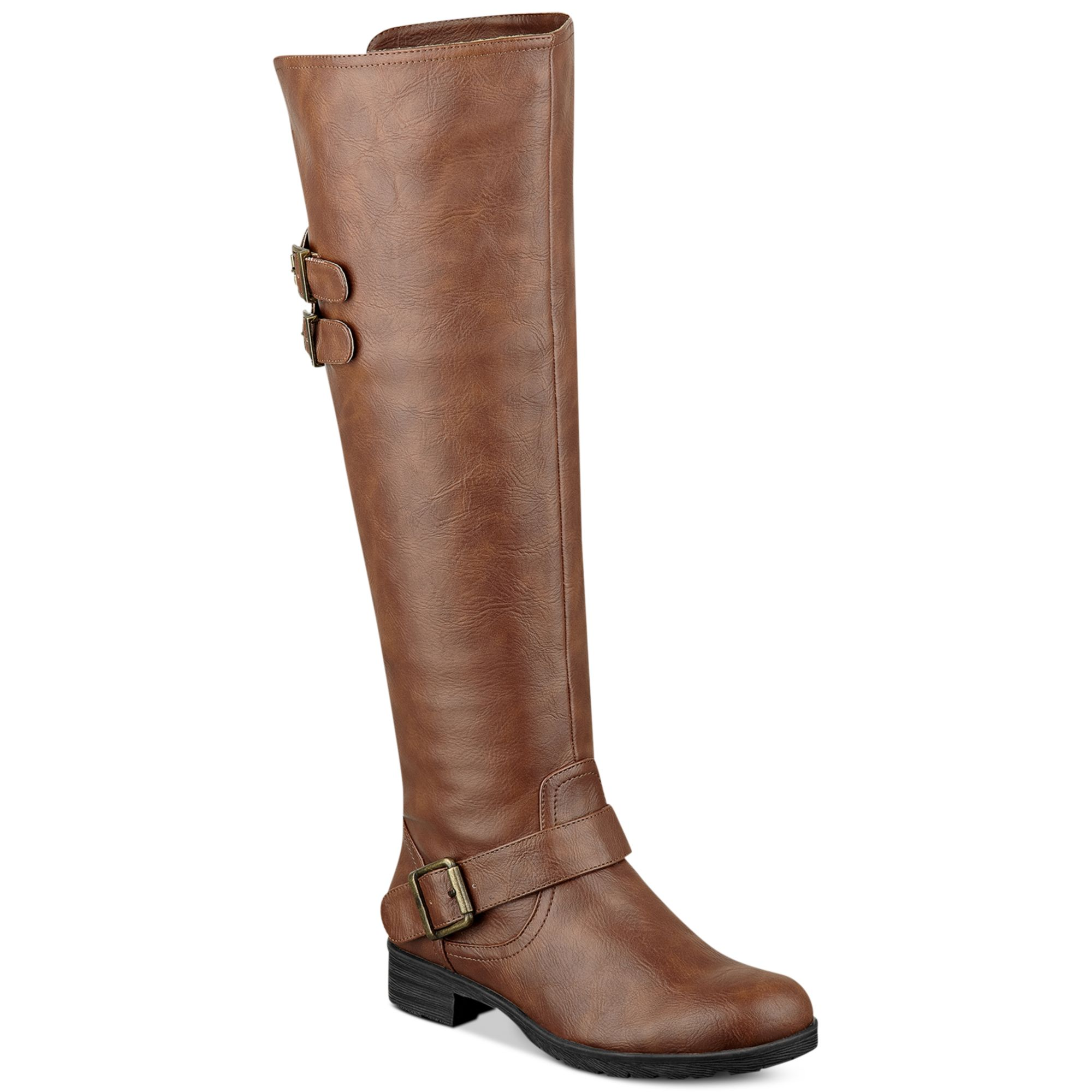 pink and pepper tahira the knee boots in brown lyst