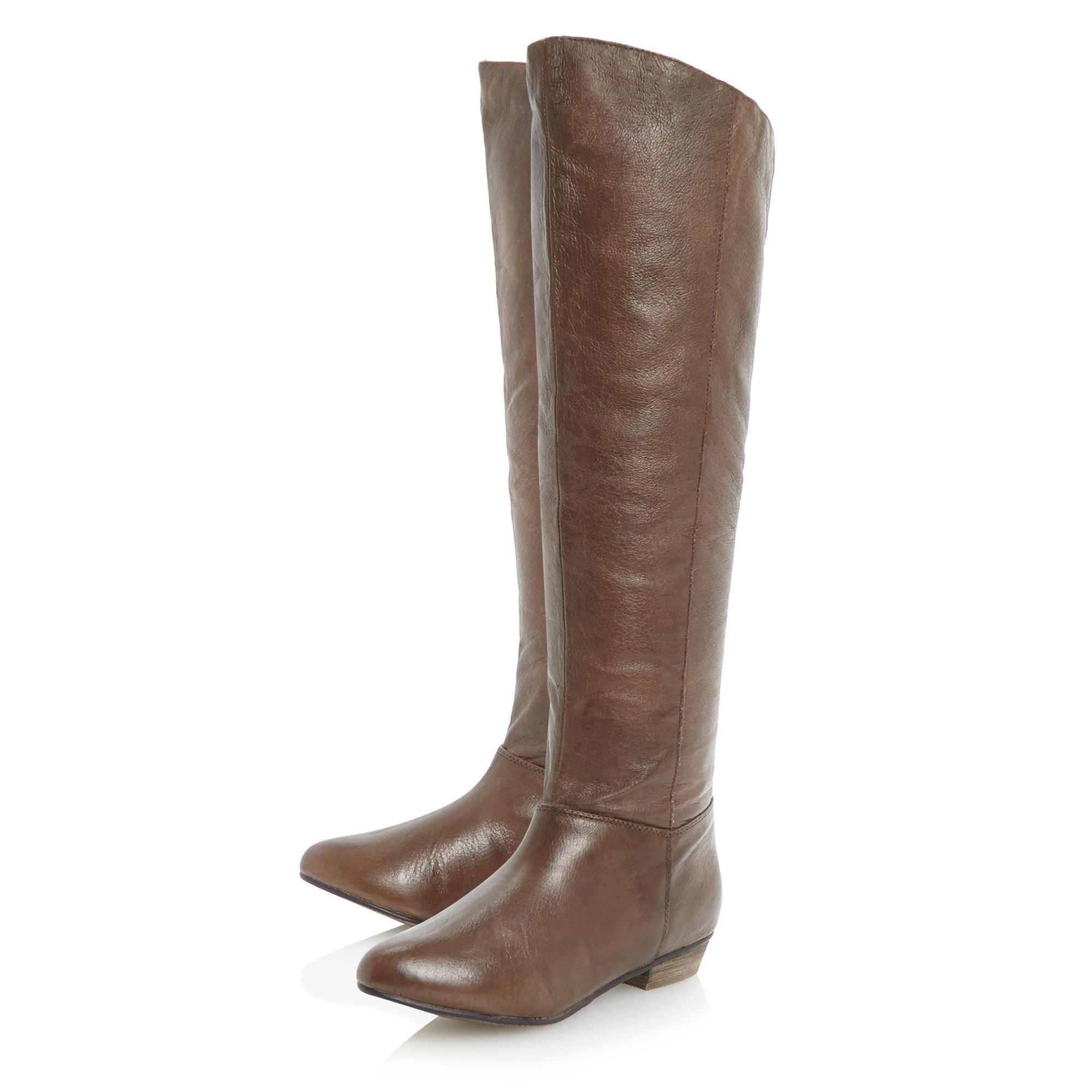 steve madden creation simple knee high boots in brown
