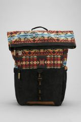 Urban Outfitters Focused Space Rolltop Pattern Backpack - Lyst