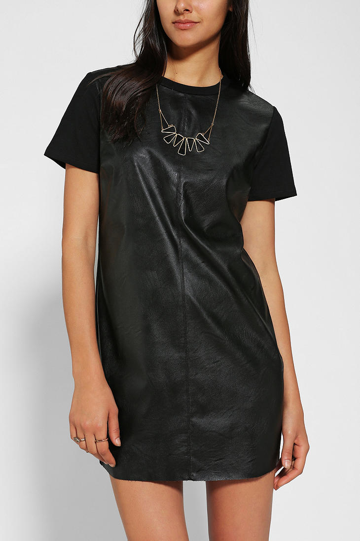 Lyst Urban Outfitters Lucca Couture Faux Leather T Shirt