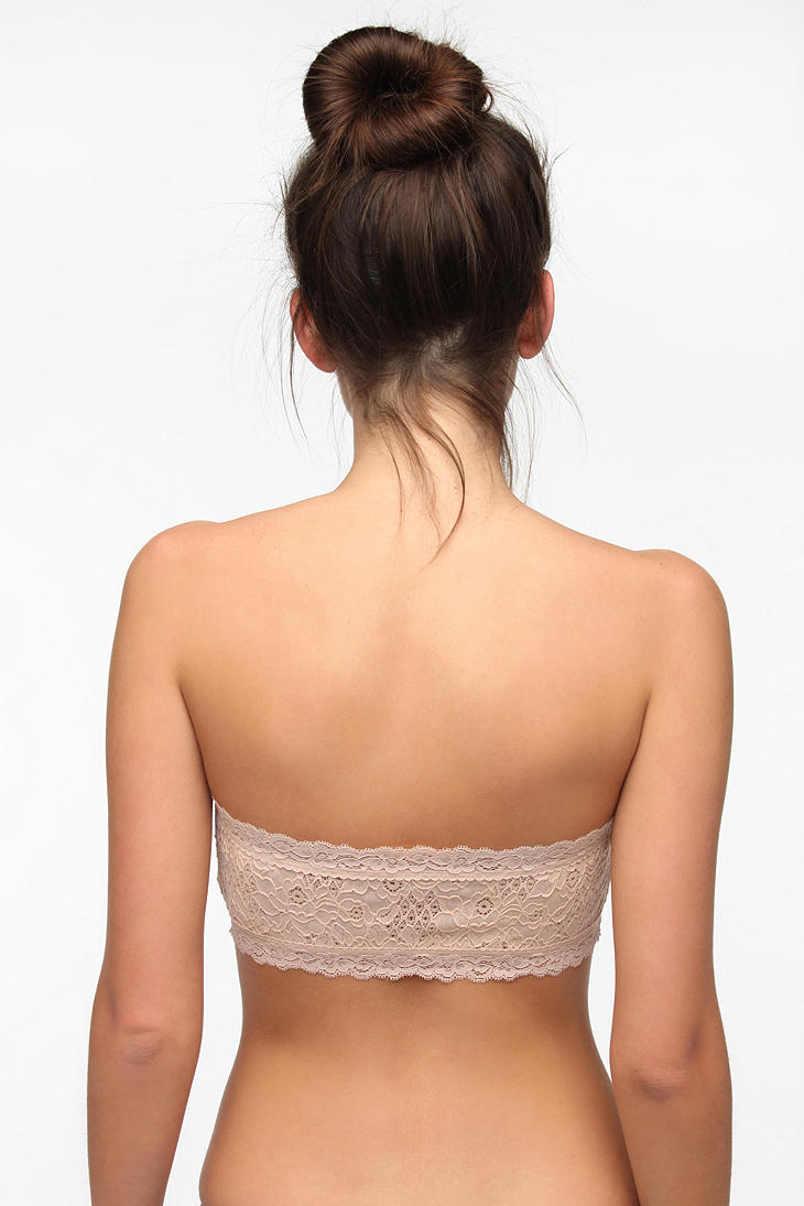 d4539cb565c85 Lyst - Urban Outfitters Kimchi Blue Lily Lace Bandeau Bra in Natural
