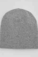 Vince Cashmere Blend Birds Eye Hat Slate