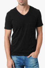 7 For All Mankind Pocket Vneck - Lyst