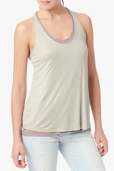 7 For All Mankind Double Layer Tank with Back Twist - Lyst