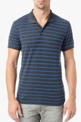 7 For All Mankind Striped Polo - Lyst