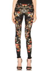 Alexander McQueen Engineered Flower Print Legging - Lyst