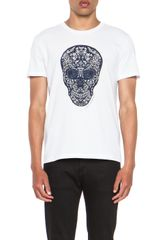 Alexander McQueen Stained Skull Tee - Lyst