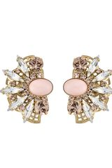 Anton Heunis Crystal Fan Detail Earrings - Lyst
