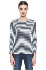 A.P.C. Striped Top - Lyst