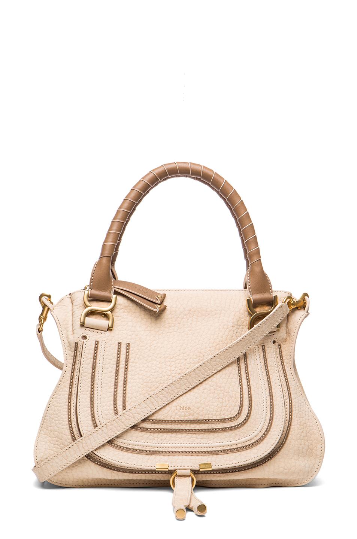 chlo marcie medium shoulder bag in beige angora beige lyst. Black Bedroom Furniture Sets. Home Design Ideas