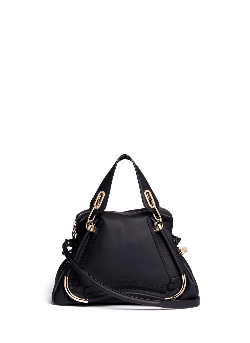 Chlo¨¦ \u0026#39;paraty\u0026#39; Medium Leather Bag in Black | Lyst