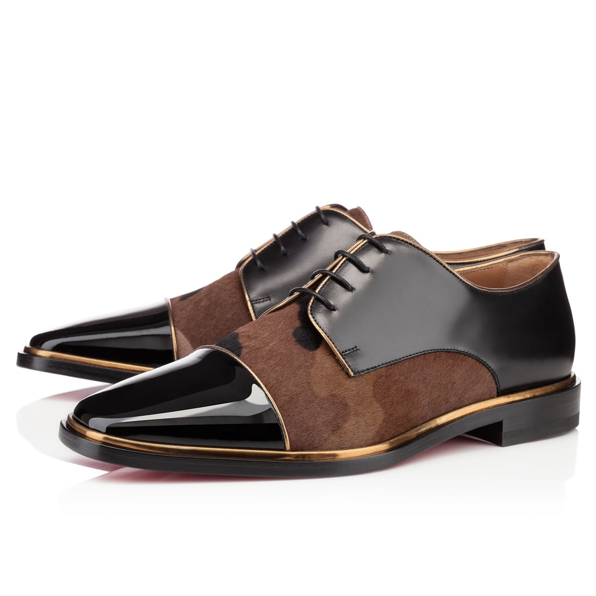 Christian Louboutin Mens Flat Lace Up in Brown for Men ...