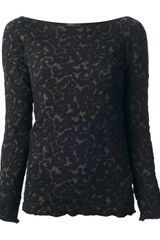 Emporio Armani Long Sleeve Top - Lyst