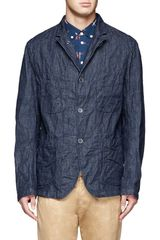 Engineered Garments Denim Blazer Jacket - Lyst