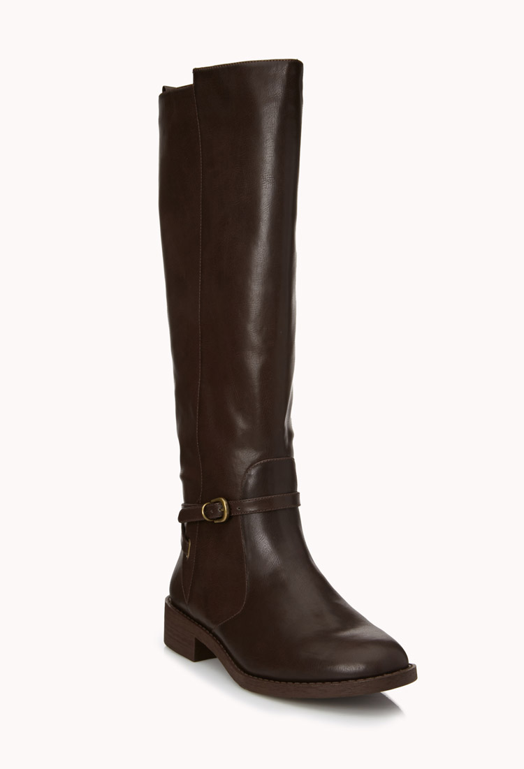 forever 21 easy rider boots in brown brown lyst
