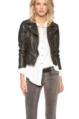 Free People Vegan Leather Peplum Jacket - Lyst