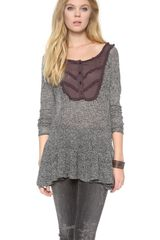 Free People Candy Yoke Pullover - Lyst