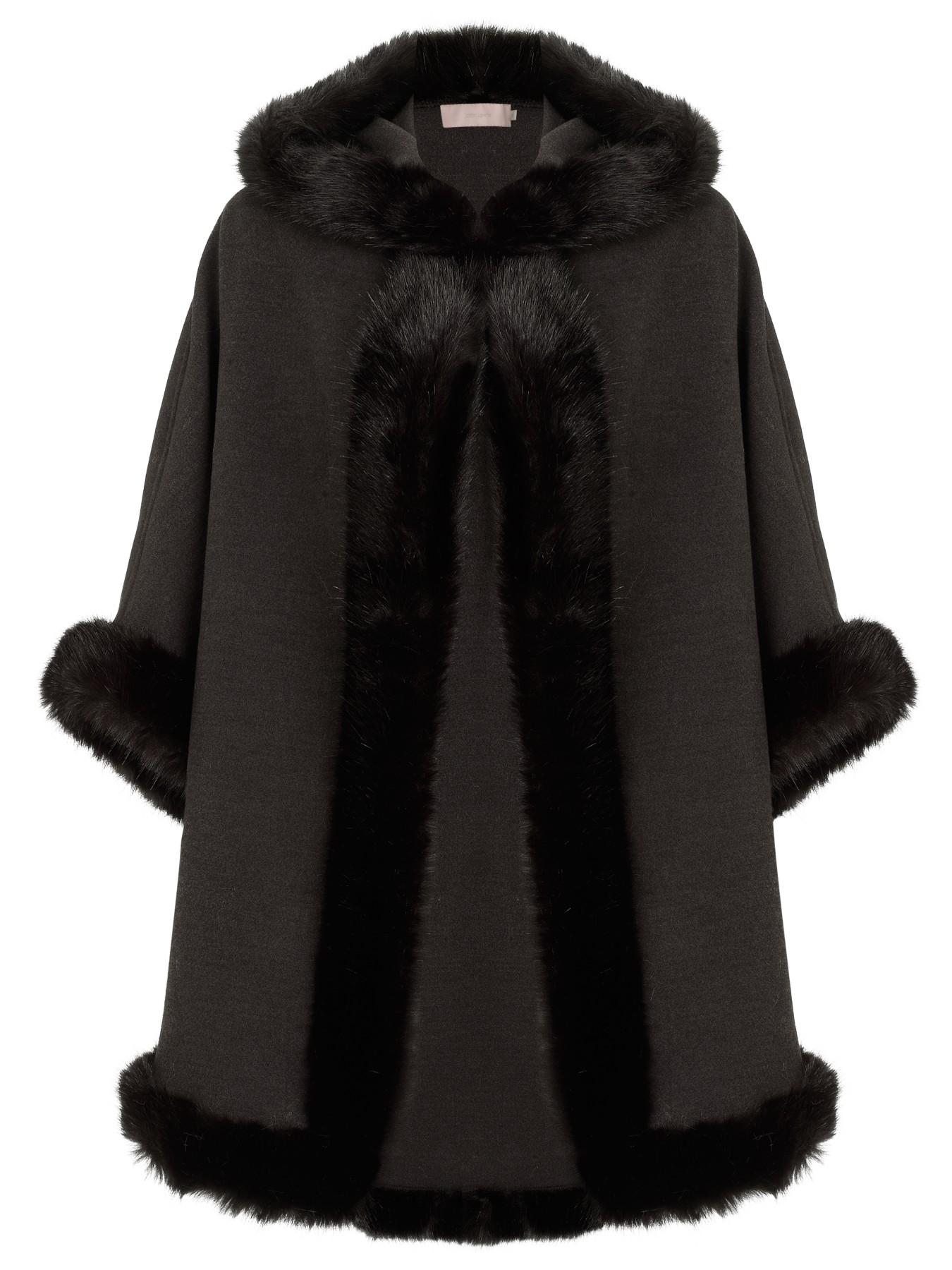 John Lewis Maria Hooded Cape Coat In Gray Grey Lyst