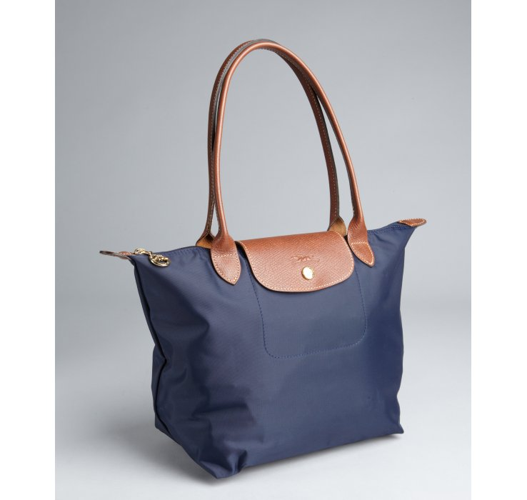 Longchamp Navy Nylon Le Pliage Small Shopper Tote in Blue   Lyst