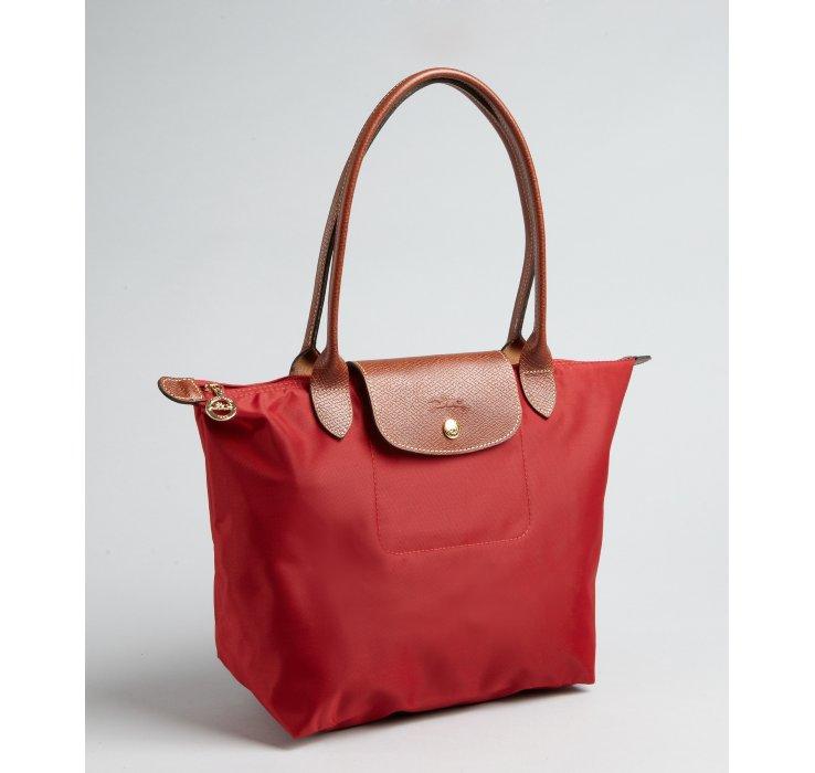 Longchamp Le Pliage Small Handbag, Red