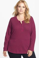 Lucky Brand Carina Stripe Cotton Tee - Lyst