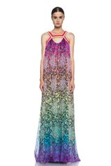 Matthew Williamson Butterfly Mousseline Embroidered Gown - Lyst