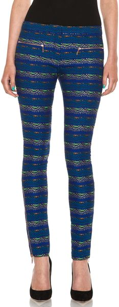 Matthew Williamson Zig Zag Stretch Tailoring Pant - Lyst