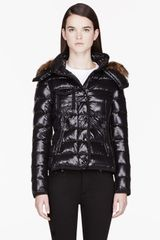 Moncler Black Fur and Down Celsie Jacket - Lyst