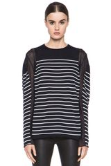 T By Alexander Wang Panel Stripe Knit Pullover - Lyst