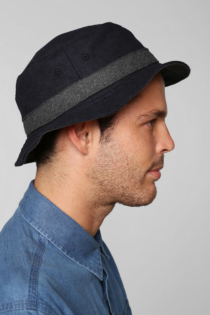 Lyst Urban Outers Wool Bucket Hat In Blue For Men 66bbd5dc9e86