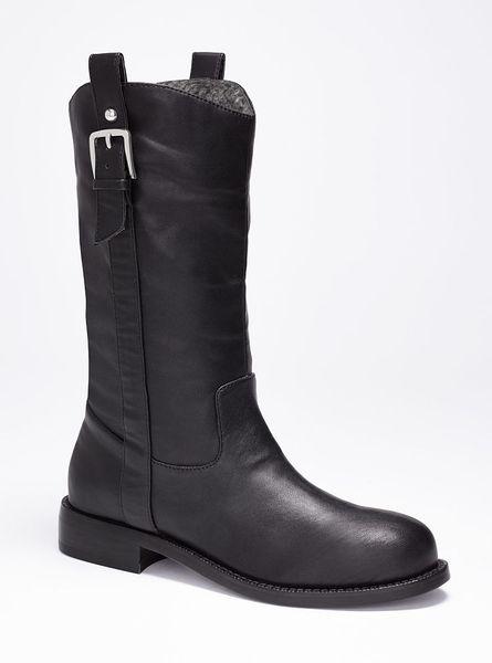 Victoriau0026#39;s Secret Lined Moto Boot In Black | Lyst