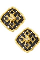 Armenta Midnight Square Button Earrings - Lyst