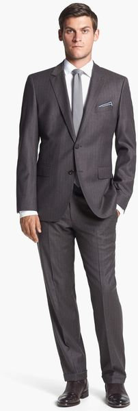 Boss by Hugo Boss Jamessharp Trim Fit Stripe Suit - Lyst