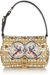 Dolce & Gabbana Dolce Medium Ayerstrimmed Embellished Shoulder Bag - Lyst