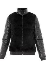 Elizabeth And James Austin Fur Front Quilted Jacket - Lyst