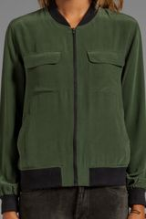Equipment Abbot Bomber in Green - Lyst