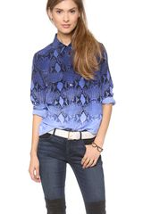Equipment Slim Signature Blouse - Lyst