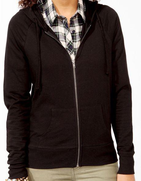 Solid black hoodie
