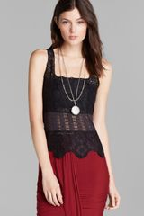 Free People Tank Textured Flower Lace - Lyst