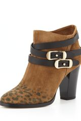 Jimmy Choo Melba Leopardprint Suede Ankle Boot - Lyst