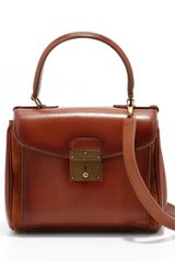 Marc Jacobs Grand Metropolitan Waxed Mini Satchel Bag Luggage - Lyst