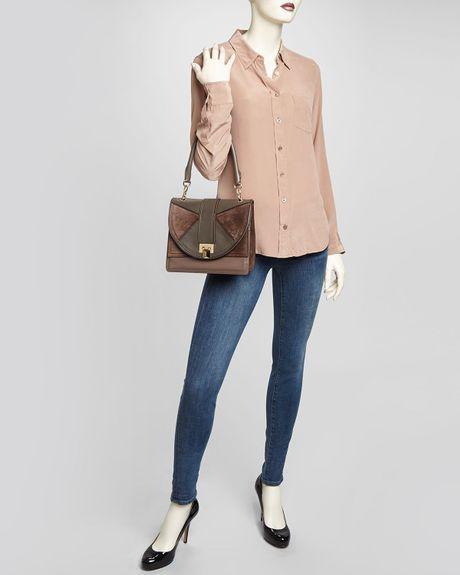 Guess Handbag Reama Top Handle Flap Shoulder Bag 25