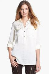 Michael by Michael Kors Roll Sleeve Safari Tunic - Lyst