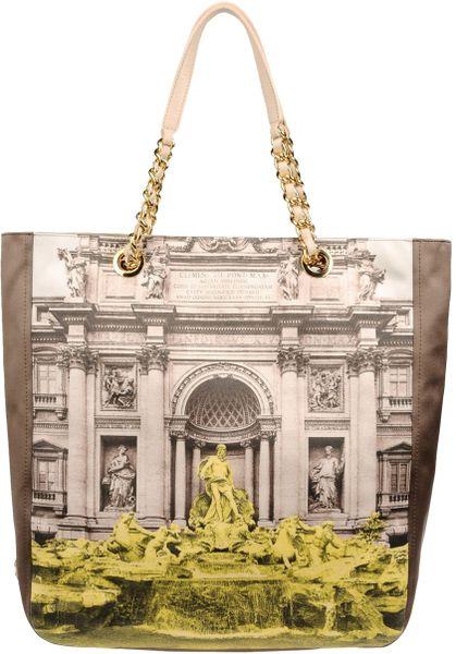 Moschino Cheap & Chic Medium Fabric Bag in Beige