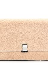 Proenza Schouler Small Lunch Bag Shearling Clutch - Lyst
