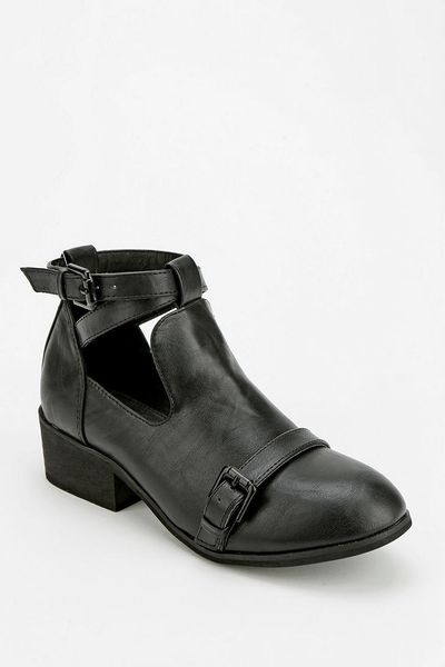 Urban Outfitters Deena And Ozzy Double-Buckle Cutout Ankle Boot in