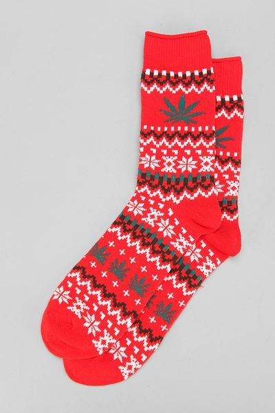 Urban Outfitters Holiday Pattern Camp Sock in Red for MenUrban Outfitters Pattern